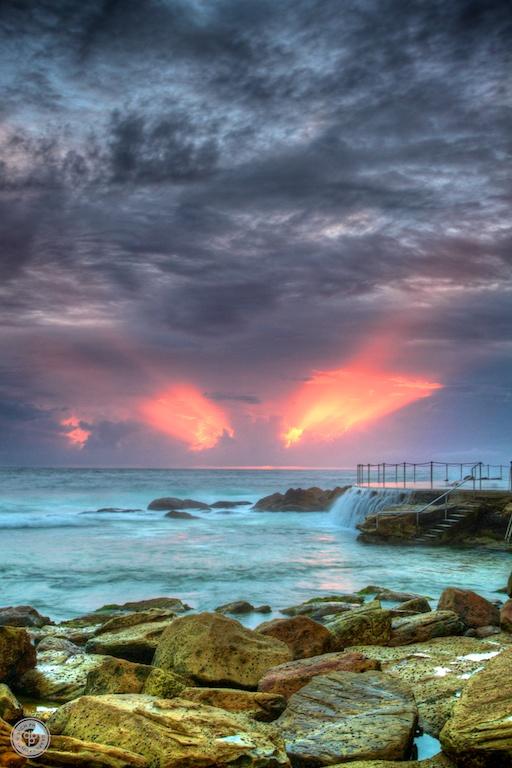 Sunrise at Bronte beach