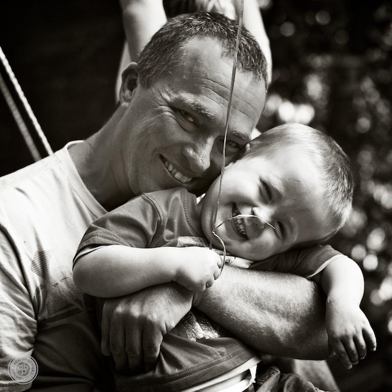 The birthday boy and Dad