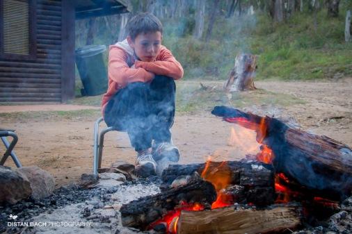 Leo, pondering the campfire