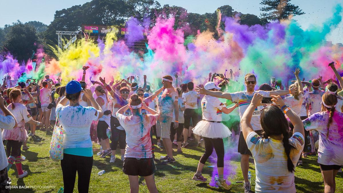 Event Color Run Centennial Park Sydney Distan Bach
