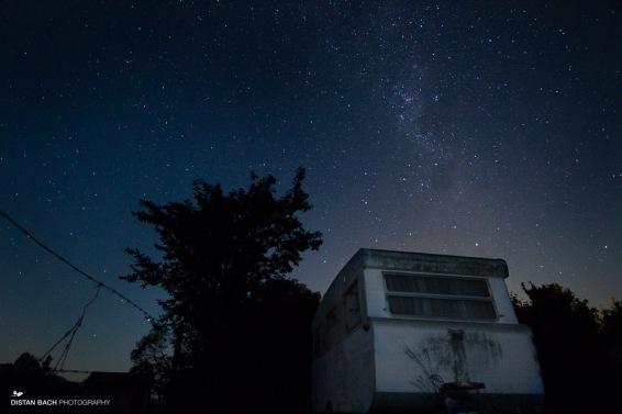 Caravan beneath the Milky Way
