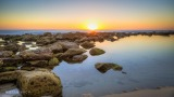 Sunrise over Bronte beach, Sydney, Australia