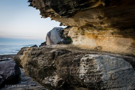 Wind and salt battered rocks