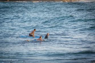 Dawn surfers