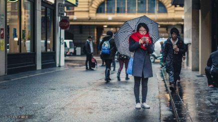 Woman with Umbrella, Melbourne