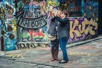 Tourist Selfie, Hosier Lane, Melbourne