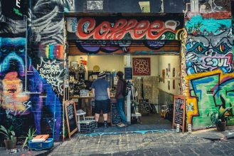 Coffee time, Hosier Lane, Melbourne